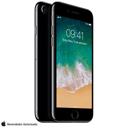 Iphone 7 Preto Brilhante Com Tela de 4,7, 4g, 256 Gb e Câmera de 12 Mp - Mn9c2br/a - Aemn9c2brapto Bivolt