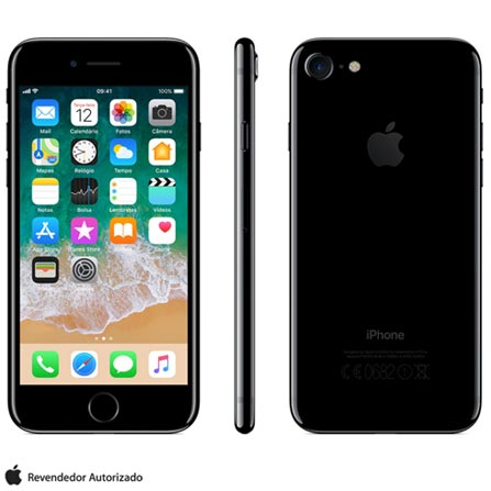 Iphone 7 Preto Brilhante Com Tela de 4,7, 4g, 256 Gb e Câmera de 12 Mp - Mn9c2bz/a - Aemn9c2bzapto Bivolt