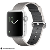 Apple Watch Series 2 Prata com Pulseira de Nylon Perola, 38 mm, Wi-Fi, Bluetooth e 08 GB
