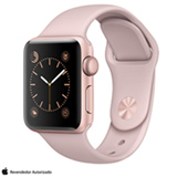 Apple Watch Series 2 Rosa Dourado com Pulseira Esportiva Areia-Rosa, 38 mm, Wi-Fi, Bluetooth e 08 GB