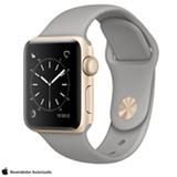Apple Watch Series 2 Dourado com Pulseira Esportiva Cinza-Concreto, 38 mm, Wi-Fi, Bluetooth e 08 GB