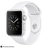 Apple Watch Series 2 Prateada com Pulseira Esportiva Branca, 42 mm, Wi-Fi, Bluetooth e 08 GB