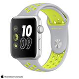 Apple Watch Nike+ Prata com Pulseira Esportiva Prata e Volt, 42 mm, Wi-Fi, Bluetooth e 8 GB