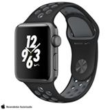 Apple Watch Nike+ Cinza Espacial com Pulseira Esportiva Preta e Cinza Gelo, 38 mm, Wi-Fi, Bluetooth e 8 GB