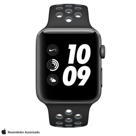 , Bivolt, Bivolt, Cinza, 42 mm, watchOS, Dual Core, 8 GB, Sim, 12 meses