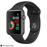 Apple Watch Series 1 Cinza Espacial com Pulseira Esportiva Preta, 42 mm, Wi-Fi, Bluetooth e 08 GB