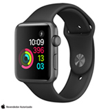 Apple Watch Series 2 Preto-Espacial com Pulseira Esportiva Preta, 42 mm, Wi-Fi, Bluetooth e 08 GB