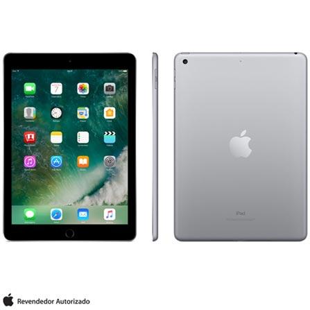 """iPad Cinza Espacial com Tela de 9,7"""", Wi-Fi, 128 GB e Processador A9 - MP2H2BZ/A, Bivolt, Bivolt, Cinza, 0000009.70, 000128, 1, N, APPLE, 003412, A9, iOS, 0000009.70, Sim, 8.0 MP, 128 GB, Wi-Fi, 12 meses, Não, Sim, A9, Não, iOS, Até 10'', 9.7'', Retina, Não"""