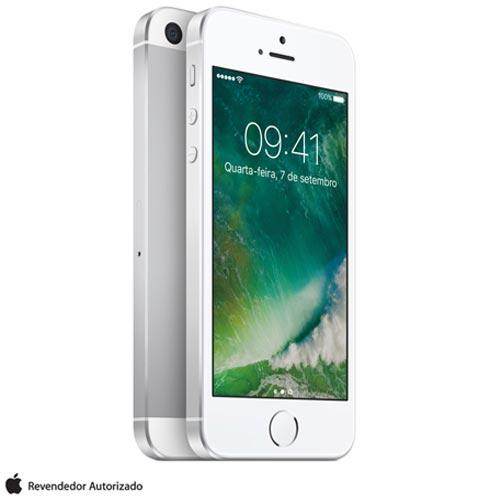 """iPhone SE Prata, com Tela de 4"""", 4G, 32 GB e Câmera de 12 MP - MP832BR/A, Prata, 0000004.00, True, 1, N, True, True, True, True, True, True, I, iPhone SE, iOS, Wi-Fi + 4G, 4'', Até 4'', A9, 32 GB, 12 MP, 1, Não, Sim, Sim, Não, Sim, Nano Chip, 12 meses"""