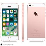"""iPhone SE Rosa Dourado, com Tela de 4"""", 4G, 32 GB e Câmera de 12 MP - MP852BR/A"""