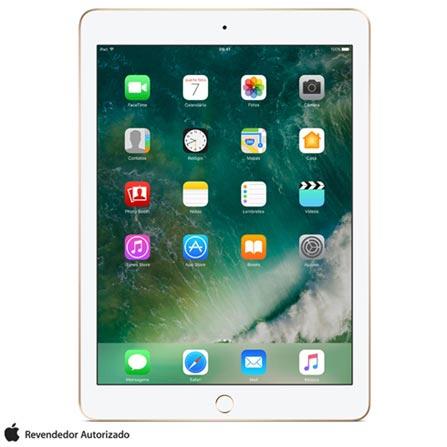 """iPad Dourado com Tela de 9,7"""", Wi-Fi, 32 GB e Processador A9 - MPGT2BZ/A, Bivolt, Bivolt, Dourado, 0000009.70, 000032, 1, N, APPLE, 003412, A9, iOS, 0000009.70, Sim, 8.0 MP, 32 GB, Wi-Fi, 12 meses, Não, Sim, A9, Não, iOS, Até 10'', 9.7'', Retina, Não"""