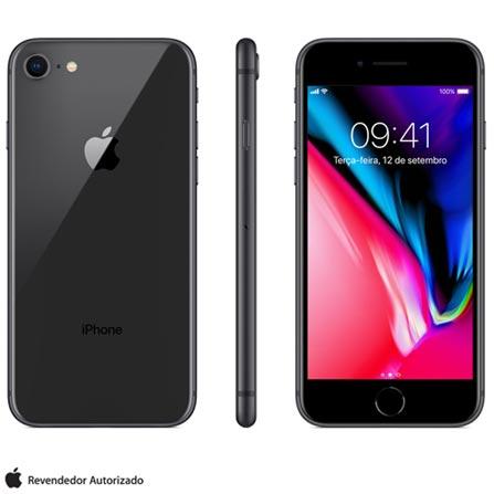 Iphone 8 Cinza Espacial, Com Tela de 4,7\u201d, 4g, 256 Gb e Câmera de 12 Mp - Mq7c2bz\/a Bivolt