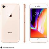 """iPhone 8 Dourado, com Tela de 4,7"""", 4G, 256 GB e Câmera de 12 MP - MQ7E2BZ/A"""