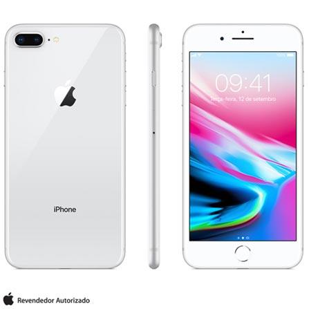 Iphone 8 Plus Prata, Com Tela de 5,5\u201d, 4g, 64 Gb e Câmera de 12 Mp - Mq8m2bz\/a Bivolt