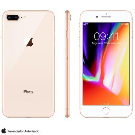 Iphone 8 Plus Dourado, Com Tela de 5,5\u201d, 4g, 64 Gb e Câmera de 12 Mp - Mq8n2bz\/a Bivolt
