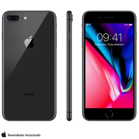 Iphone 8 Plus Cinza Espacial, Com Tela de 5,5\u201d, 4g, 256 Gb e Câmera de 12 Mp - Mq8l2bz\/a Bivolt