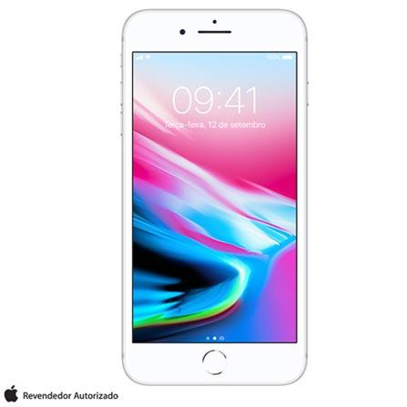 Iphone 8 Plus Prata, Com Tela de 5,5, 4g, 256 Gb e Câmera de 12 Mp - Mq8q2bz/a - Aemq8q2bzapta Bivolt