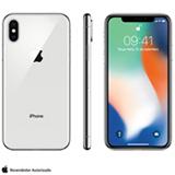 iPhone X Prata, com Tela de 5,8', 4G, 64 GB e Câmera de 12 MP - MQAD2BZ/A