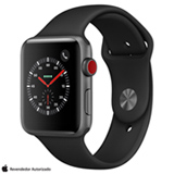 Apple Watch Serie 3 GPS Cinza Espacial com Pulseira Esportiva Preta, 42 mm, 4G+Wi-Fi, Bluetooth e 16 GB