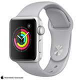 Apple Watch Serie 3 Prata com Pulseira Esportiva, 38 mm, Wi-Fi, Bluetooth e 8 GB