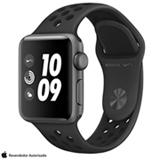 Apple Watch Nike+ Cinza Espacial com Pulseira Esportiva Cinza-Carvão e Preta, 38 mm, Wi-Fi, Bluetooth e 8 GB