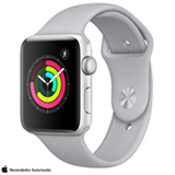 Apple Watch Serie 3 Prata com Pulseira Esportiva Cinza Névoa, 42 mm, Wi-Fi, Bluetooth e 8 GB