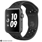 Apple Watch Nike+ Cinza Espacial com Pulseira Esportiva Cinza-Carvão e Preto, 42 mm, Wi-Fi, Bluetooth e 8 GB