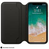 Capa Folio para iPhone X de Couro Preta - Apple - MQRV2ZM/A