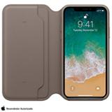 Capa Folio para iPhone X de Couro Taupe - Apple - MQRY2ZM/A