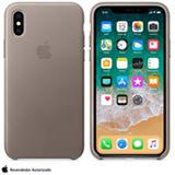 Capa para iPhone X de Couro Taupe - Apple - MQT92ZM/A