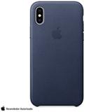 Capa para iPhone X de Couro Azul Meia-noite - Apple - MQTC2ZM/A