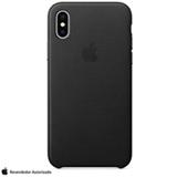 Capa para iPhone X de Couro Preta - Apple - MQTD2ZM/A