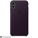 Capa para iPhone X de Couro Aubergine - Apple - MQTG2ZM/A