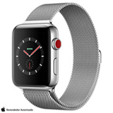 Apple Watch Series 3 GPS em Aço Inox com Pulsiera Estilo Milanês, 42 mm, 4G+Wi-Fi, Bluetooth e 16 GB