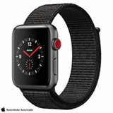 Apple Watch Series 3 GPS Grafite com Pulseira Esportiva Cinza, 42 mm, 4G+Wi-Fi, Bluetooth e 16 GB