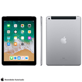 "iPad Cinza Espacial com Tela de 9,7"", 4G, 128 GB e Processador A10 - MR722BZ/A"