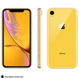 iPhone XR Amarelo com Tela de 6,1', 4G, 128 GB e Câmera de 12 MP - MRYF2BZ/A