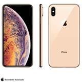 iPhone XS Max Dourado com Tela de 6,5', 4G, 256 GB e Câmera de 12 MP - MT552BZ/A