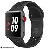 Apple Watch Nike+ Sport Cinza Espacial com Pulseira Esportiva, 38 mm, Bluetooth, 4G e 16 GB