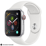 Apple Watch Sport Prata com Pulseira Esportiva Branca, 44 mm, Wi-Fi/4G, Bluetooth e 16 GB