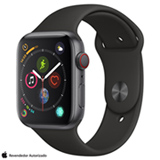 Apple Watch Sport Cinza Espacial com Pulseira Esportiva Preta, 44 mm, 4G, Bluetooth e 16 GB - MTVU2BZ/A
