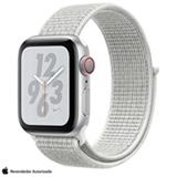 Apple Watch Series 4 N+ Prateado GPS Alumínio com Pulseira Esporte em Nylon Branca, 40 mm, Wi-Fi+4G, Bluetooth e 16GB