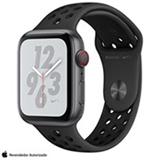 Apple Watch S4 N+ Cinza Espacial GPS Alumínio e Pulseira Esporte Cinza-Carvão e Preto, 44 mm, 4G e 16GB - MTXM2BZ/A