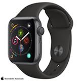 Apple Watch Series 4 Cinza Espacial GPS em Alumínio e Pulseira Esportiva Preta, 40 mm, Wi-Fi e 16GB - MU662BZ/A