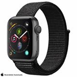 Apple Watch S4 Cinza Espacial GPS em Alumínio e Pulseira Esportiva Preta, 40 mm, Wi-Fi, Bluetooth e 16GB - MU672BZ/A