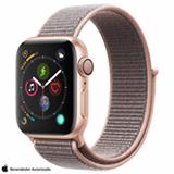 Apple Watch Series 4 Dourado e Pulseira Esporte em Nylon Areia Rosa, 40 mm, Wi-Fi, Bluetooth e 16GB