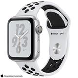 Apple Watch Sport Nike+ Series 4 Prata com Pulseira Esportiva Preta, 40 mm, Wi-Fi, Bluetooth e 16 GB