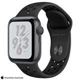 Apple Watch Sport Nike+ Cinza Espacial com Pulseira Esportiva Preta, 40 mm, Wi-Fi, Bluetooth e 16 GB