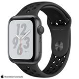 Apple Watch Sport Nike+ Series 4 Cinza Espacial com Pulseira Esportiva Preta, 44 mm, Wi-Fi, Bluetooth e 16 GB