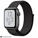 Apple Watch S4 N+ Cinza Espacial GPS em Alumínio e Pulseira Esporte em Nylon Preta, 40 mm, Wi-Fi, Bluetooth e 16GB